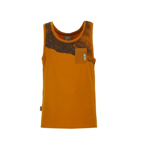 Slide Tanktop Mustard front Elementary Outdoor Sports